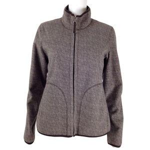Coldwater Creek Herringbone Fleece Jacket